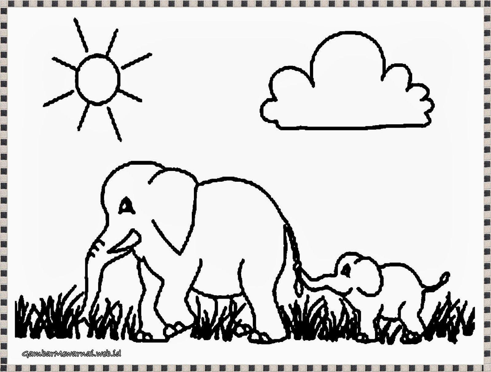 Download Gambar Gambar Untuk Mewarnai Bagi Anak PAUD Gambar