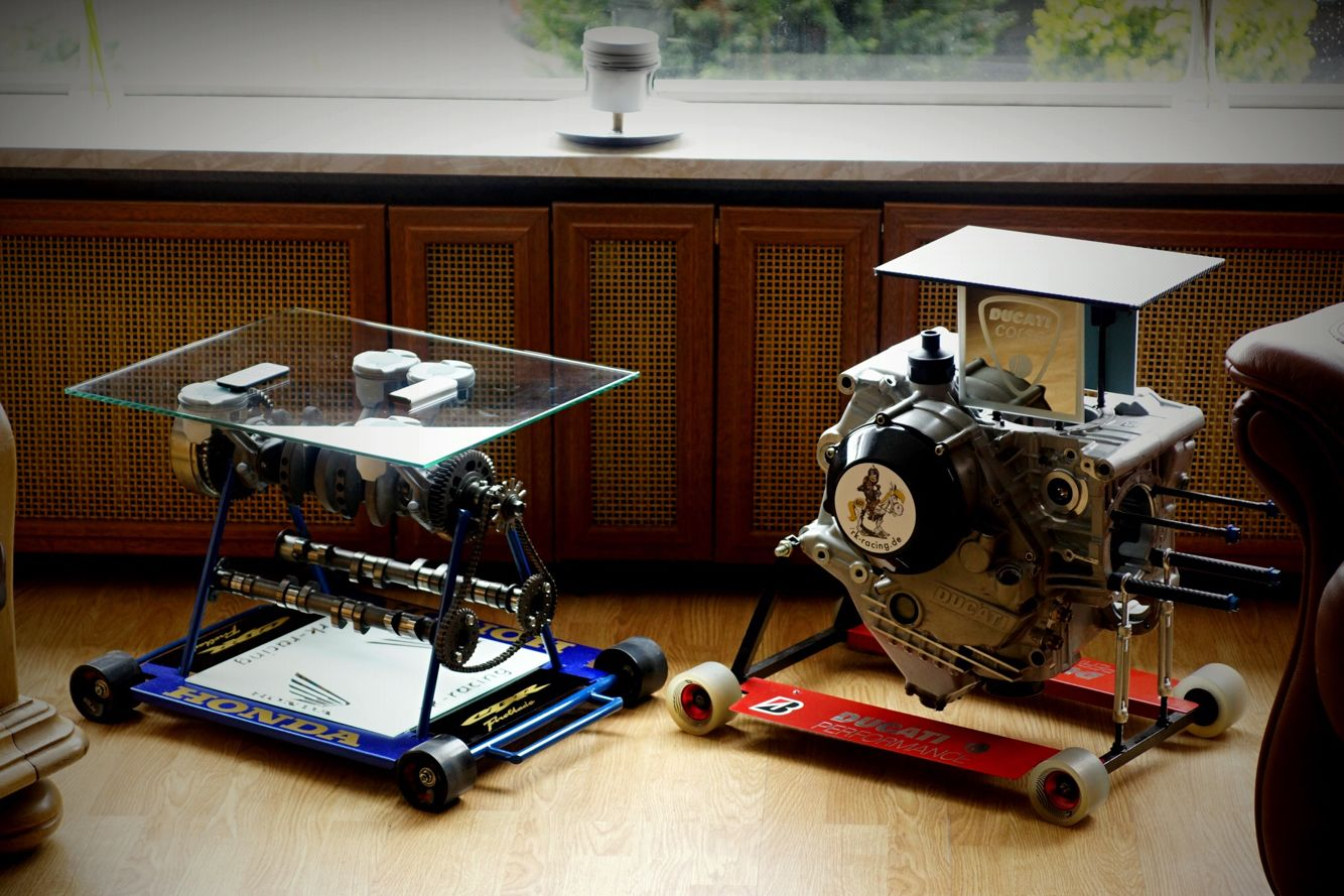 My Honda Fireblade Crankshaft Table Side By Side With The Ducati