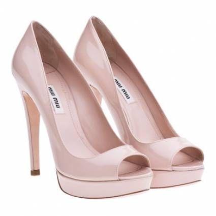 a47328047914e chaussures escarpins de mariée originaux rose poudré miu miu Carnet  d inspiration mariage Mademoiselle Cereza