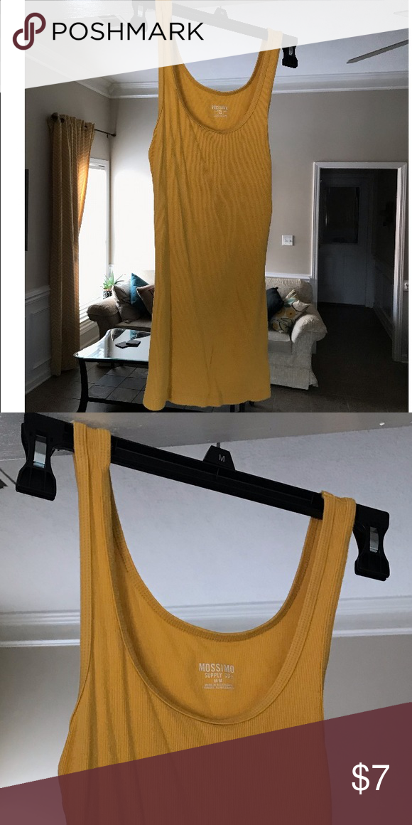 70c8c32422e41 Mustard Yellow Tank Mossimo tank top. Beautiful for fall when paired with a  cardigan Make