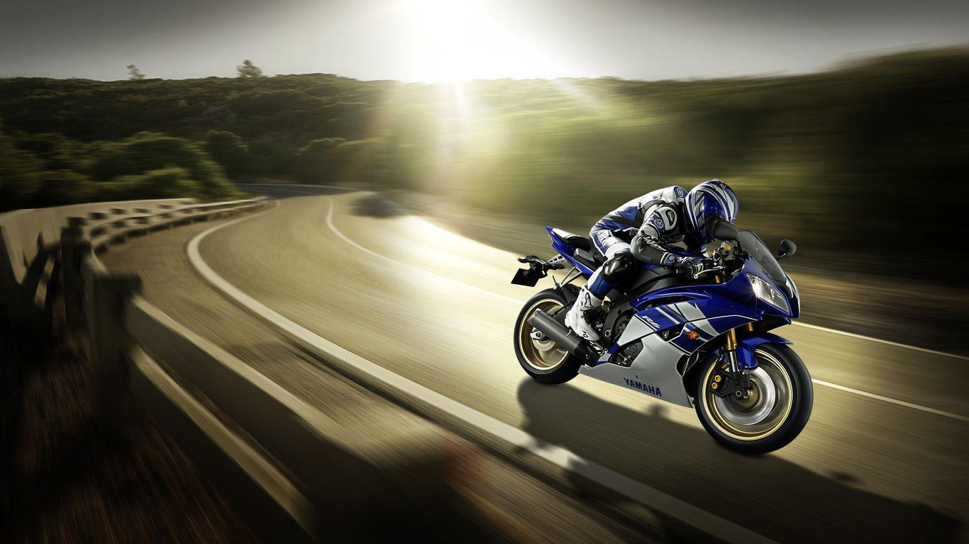 Fonds D Cran Yamaha Yzf R6 2011 Sportive Blanc Bleu Moto