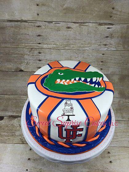 Fantastic Florida Gators Cake Sweet Suprise Cakes Llc Cake Gallery Uf Funny Birthday Cards Online Elaedamsfinfo