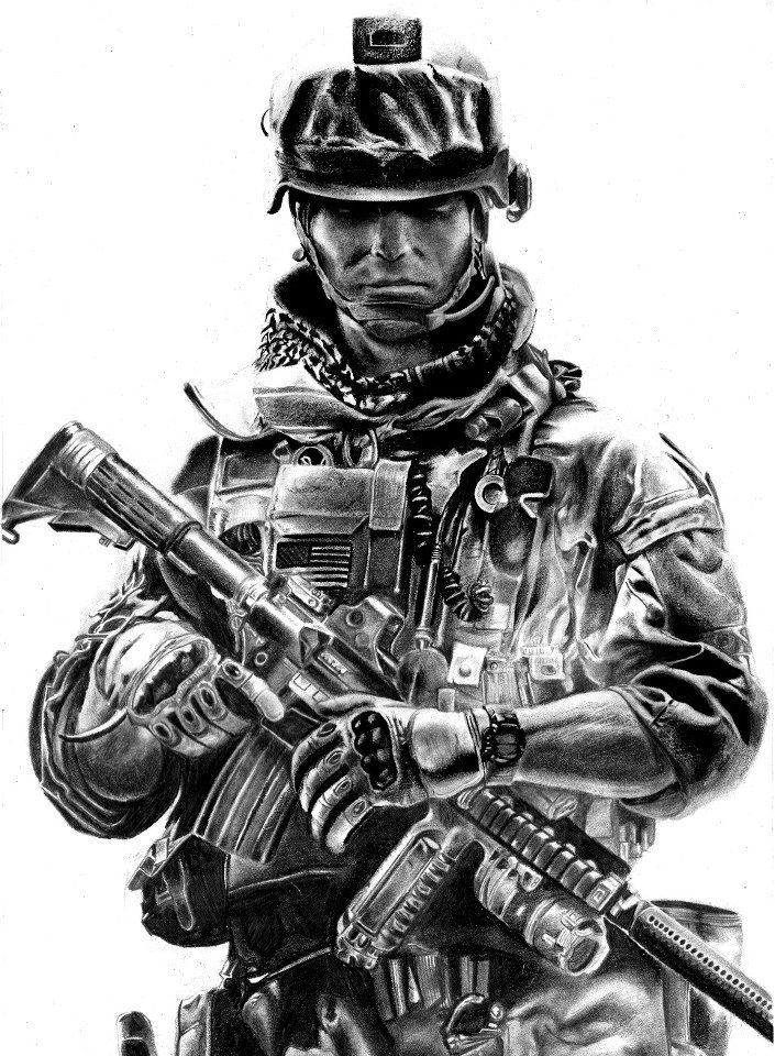 Check out this stunning bf3 pencil drawing from keshav rathnavel then watch this video of its creation http youtu be frmdlhejmiu what other cool bf3 fan