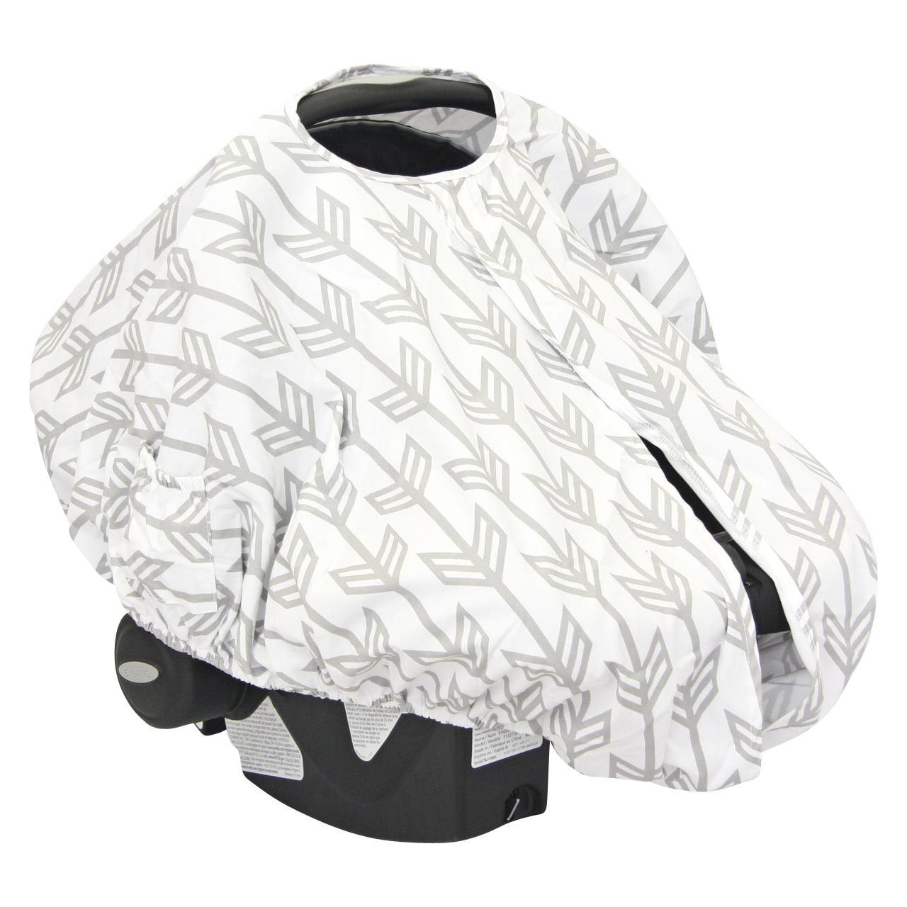 Gray Arrow Car Seat Canopy Cover  sc 1 st  Pinterest & Gray Arrow Car Seat Canopy Cover | Awesome Baby Gear | Pinterest ...