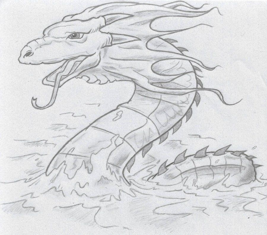 Sea Serpent Drawing Google Search Sea Serpent Monster Sketch