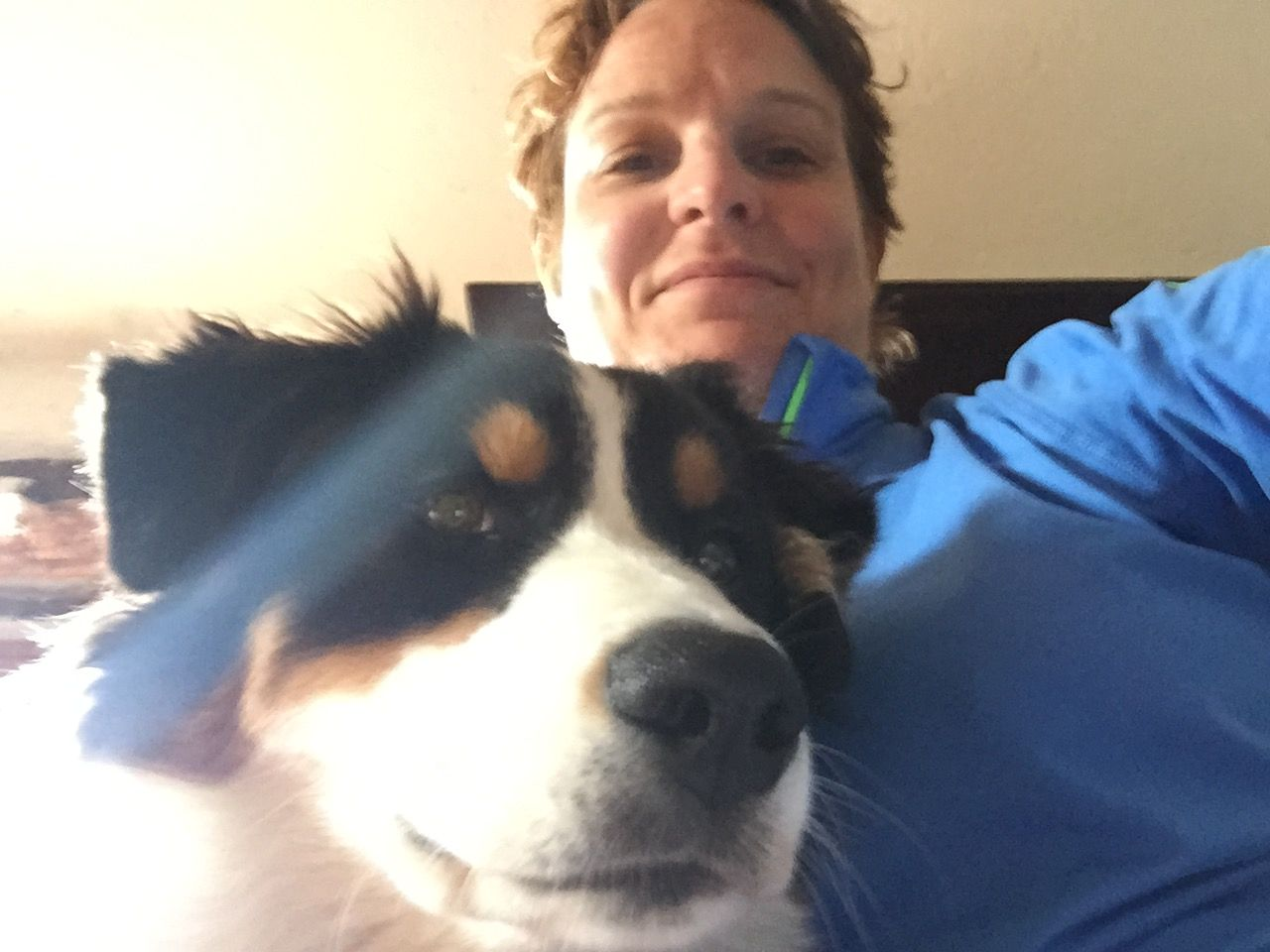 Alex, our Master Franchisor in San Marino and her new 6-month old #Australian #Shepherd,  Zoe, who loves to run!