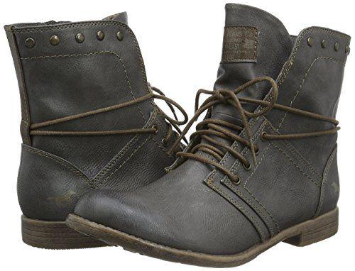 noch nicht vulgär strukturelle Behinderungen klassischer Chic Mustang Womens Schnür-Booty Boots: Amazon.co.uk: Shoes ...