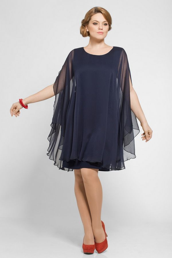 6c07b9436b8 Платья из шифона для полных женщин (59 фото)  больших размеров ...