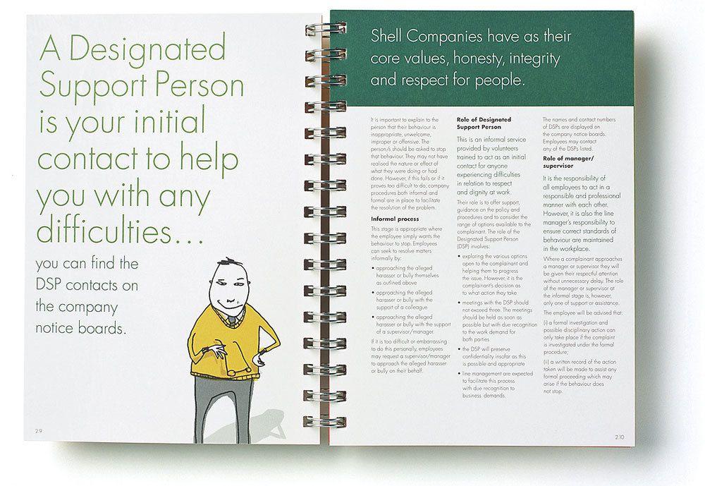 Shell Employee Handbook On Behance  Employee Handbook