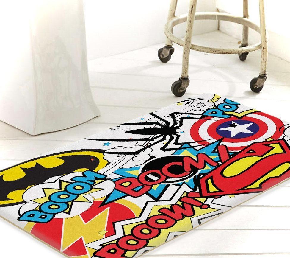 Superhero Bathroom Bath Mat Bathroom Rug Marvel Room Decor Bathroom Rugs Superhero Bathroom Decor Marvel Room [ 866 x 975 Pixel ]