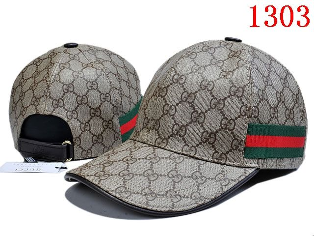 Gucci Original GG Leather Baseball Hat with Web  47aab625b94