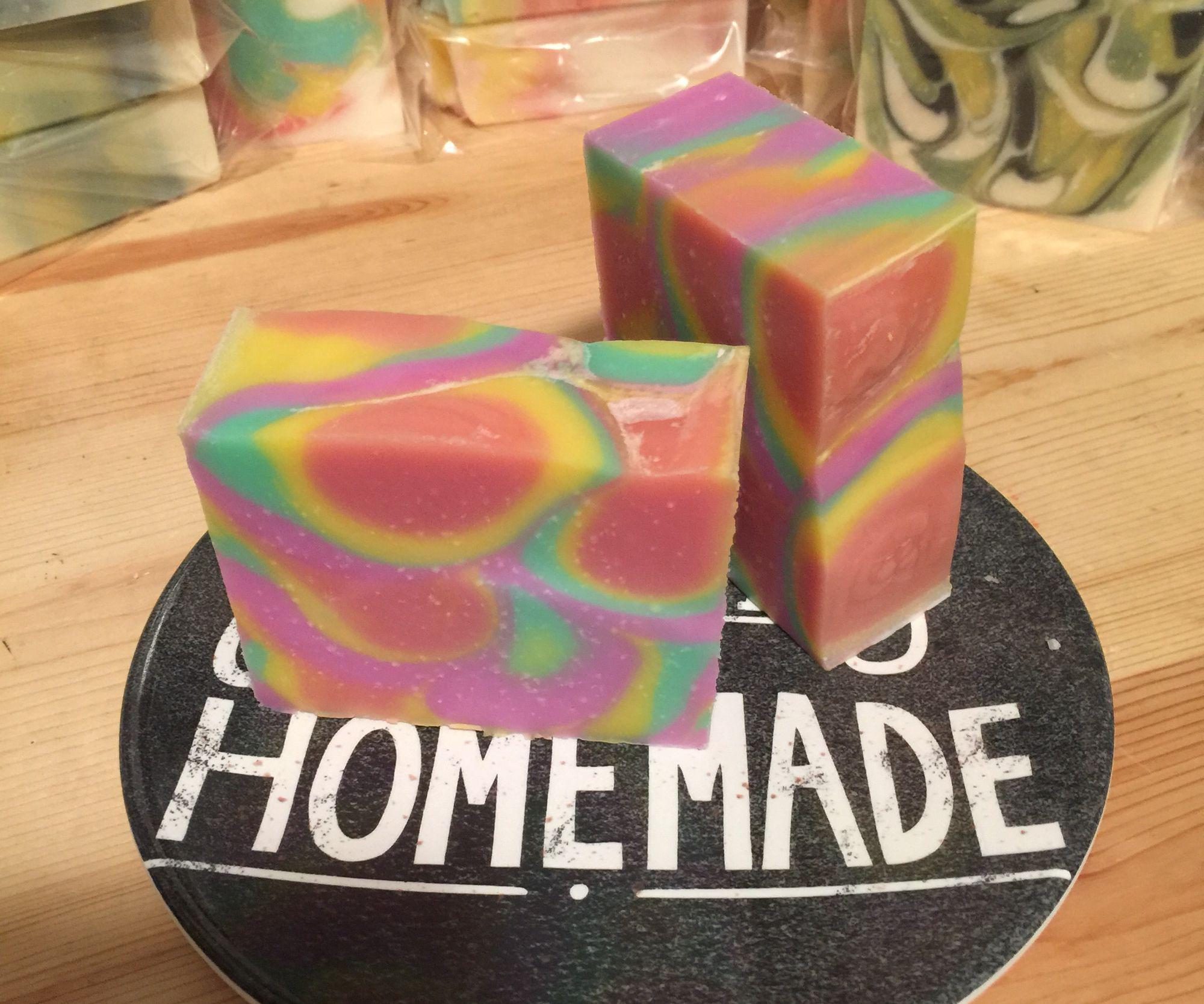 Raspberry Vanilla handmade Soap #soap