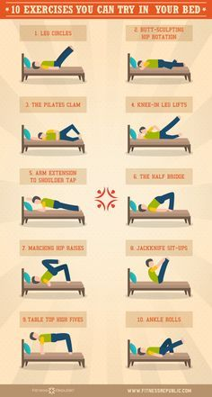 10 exercises you can do in bed  bed workout exercise at