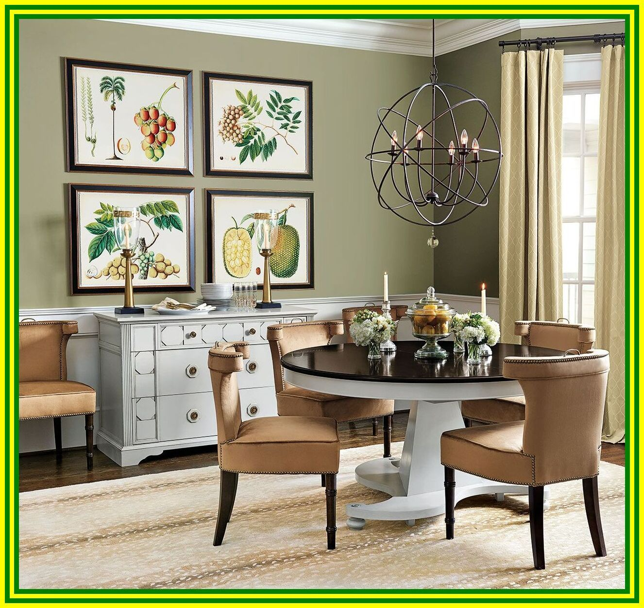 106 Reference Of Green Kitchen Chairs Green Dining Room Dining Room Wall Color Green Walls Living Room