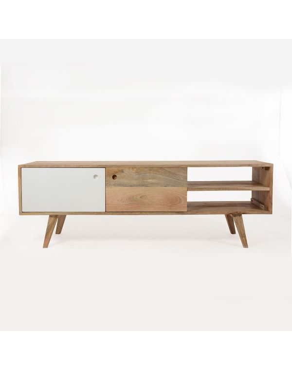 Meuble tv scandinave en bois artiq tvs salons and deco for Meuble tv scandinave