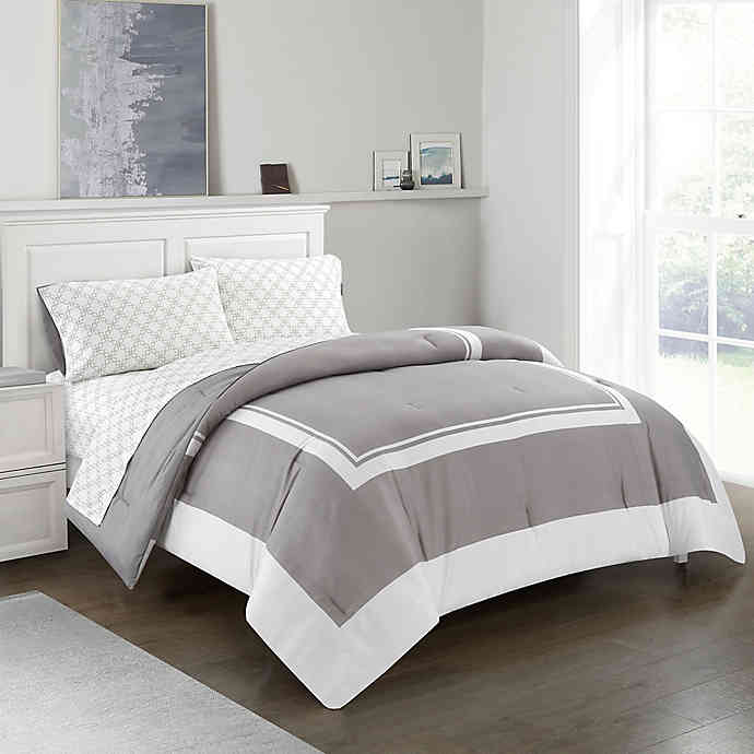 Photo of Finely 5-Piece Reversible Comforter Set | Bed Bath & Beyond