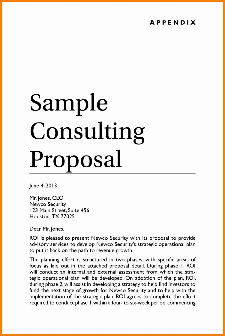 25 Consulting Proposal Sample Pdf in 2020 Proposal