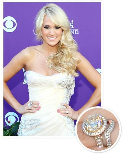 Updated Celebrity Rings Carrie Underwood Engagement Ring Carrie Underwood Wedding Ring Wedding Rings Engagement