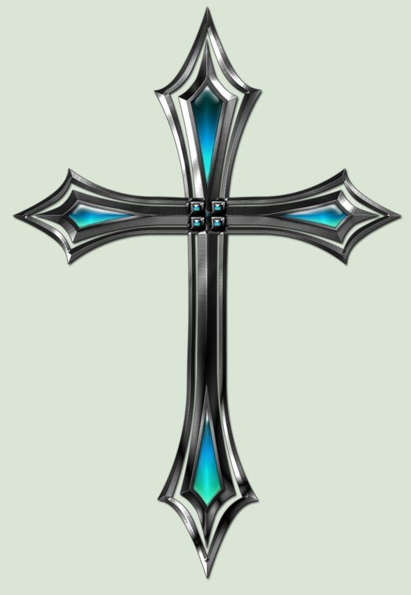 Beveled Silver Cross Design » Gallery of Crosses | Cool ...