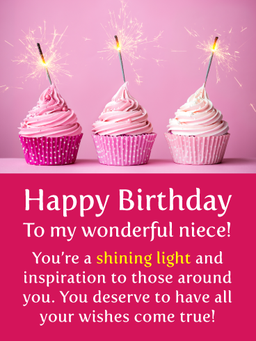 May Your Wishes Come True Happy Birthday Card For Niece Birthday Greeting Cards By Davia Niece Birthday Wishes Happy Birthday Niece Wishes Happy Birthday Niece