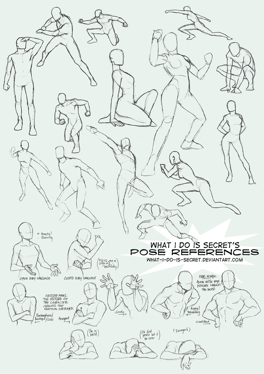 Pose collection 002 by what i do is secret on deviantart