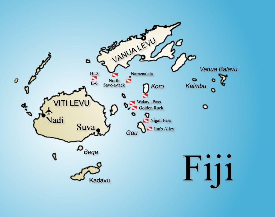 Islas Fiji Mapa Islas Fiji Islas Y Fiyi