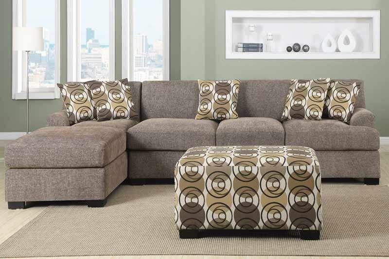 POUNDEX Furniture - Montreal Slate Sectional Sofa - F7450 | POUNDEX ...