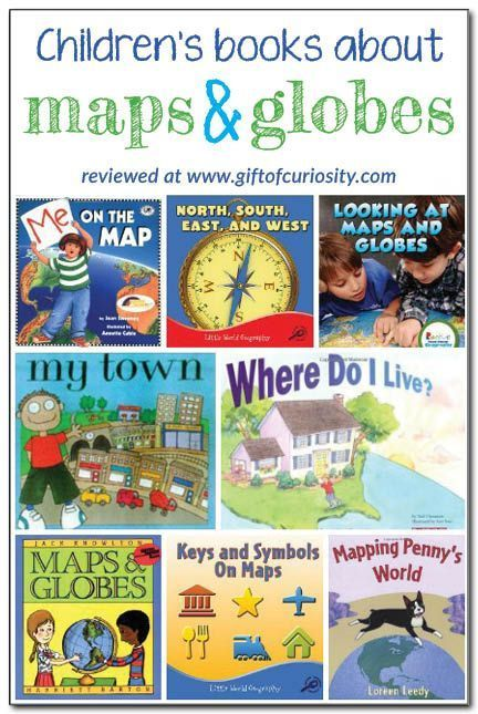 books about maps and globes for kids {introducing geography} Books about maps and globes for kids: review and description of 8 books about maps and gloves for kids. These books would go great with some basic lessons for kids! || Gift of CuriosityBooks about maps and globes for kids: review and description of 8 books about maps and gloves for kids. These books w...