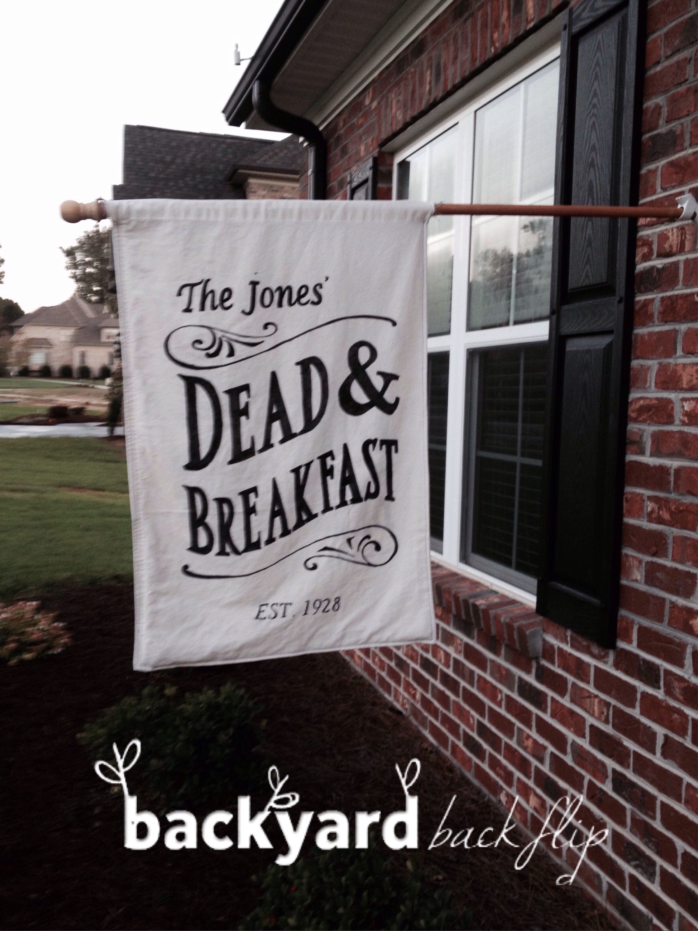 DIY Dead  Breakfast sign! Halloween Pinterest Halloween - halloween decorations for the office
