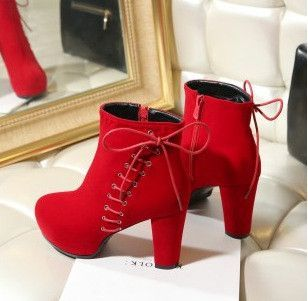 premium selection c1813 a64a7 COOLBRAT Suede Leather Wedding Shoes Women Zip Red Bottom ...