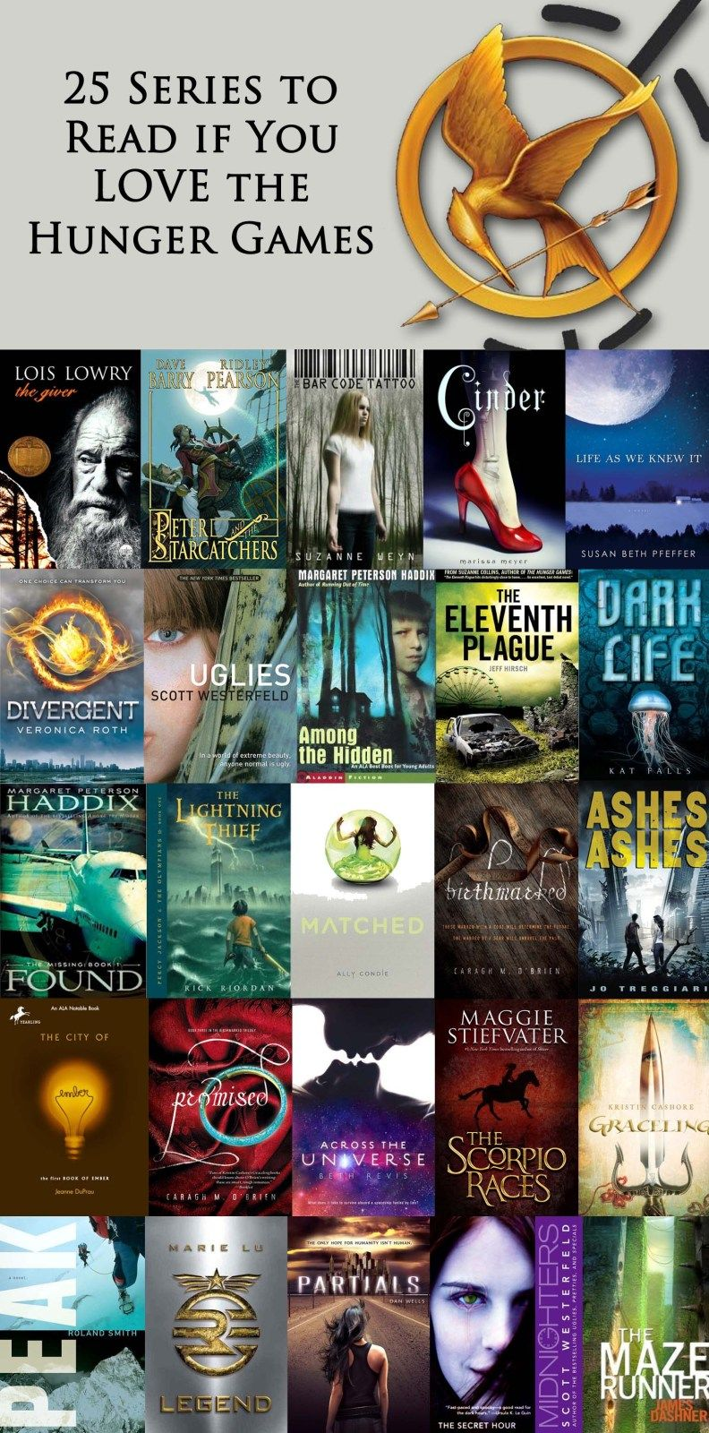 25 series to read if you love the hunger games books