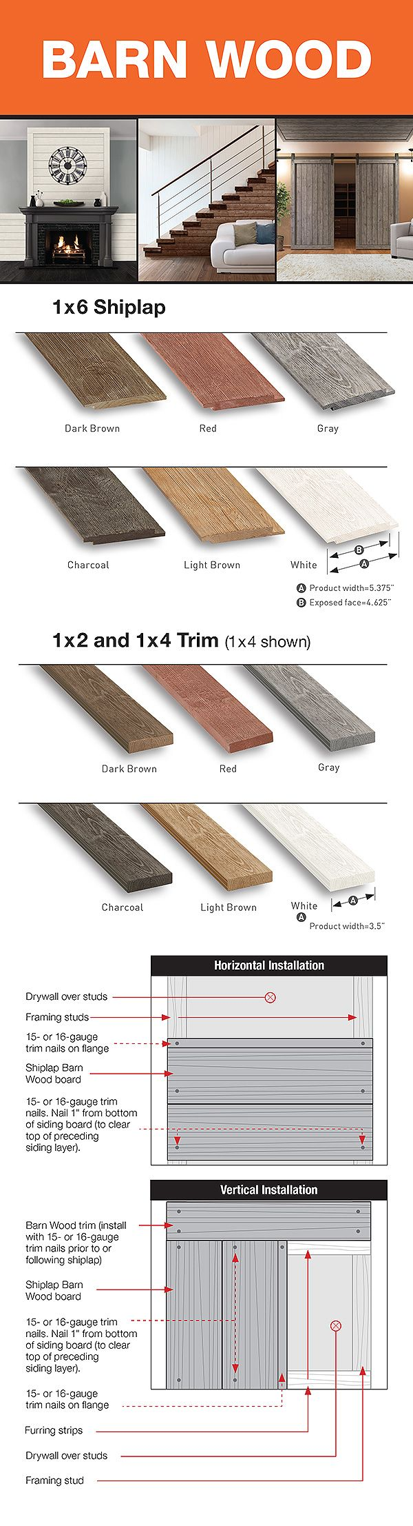 Ufp Edge 1 In X 6 In X 6 Ft Barn Wood Gray Shiplap Spruce Pine Fir Board 6 Pack 251199 The Home Depot Gray Shiplap Shiplap Wood Charcoal