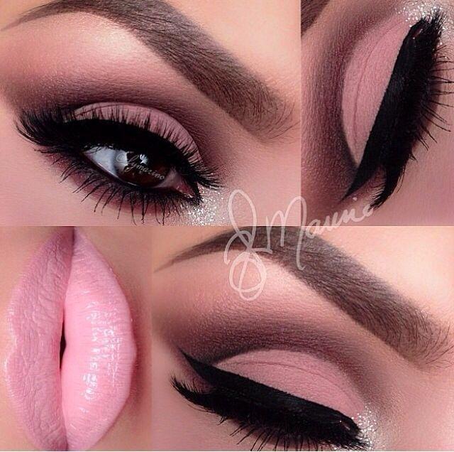 Light Pink Eye Makeup | Макияж глаз | Макияж, Макияж глаз и