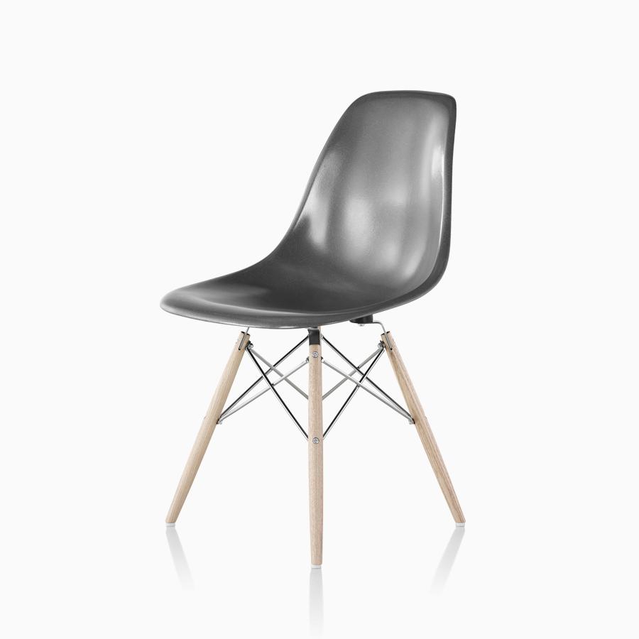 Eames® Molded Fiberglass Side Chair 4 Leg Base U2014 The Original Eames Molded  Fiberglass Side