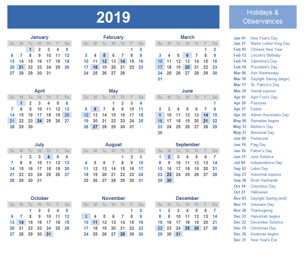 Blank Calendar 2019 Templates 2019 Collection Pinterest