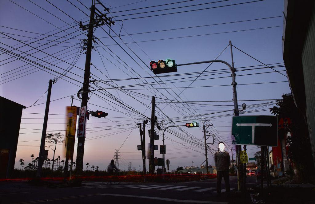 台灣「美景」—電線 吳政璋 攝影 100x150x3.5cm x1p