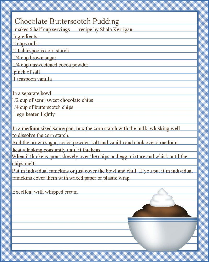 full page recipe templates google search dyi pinte