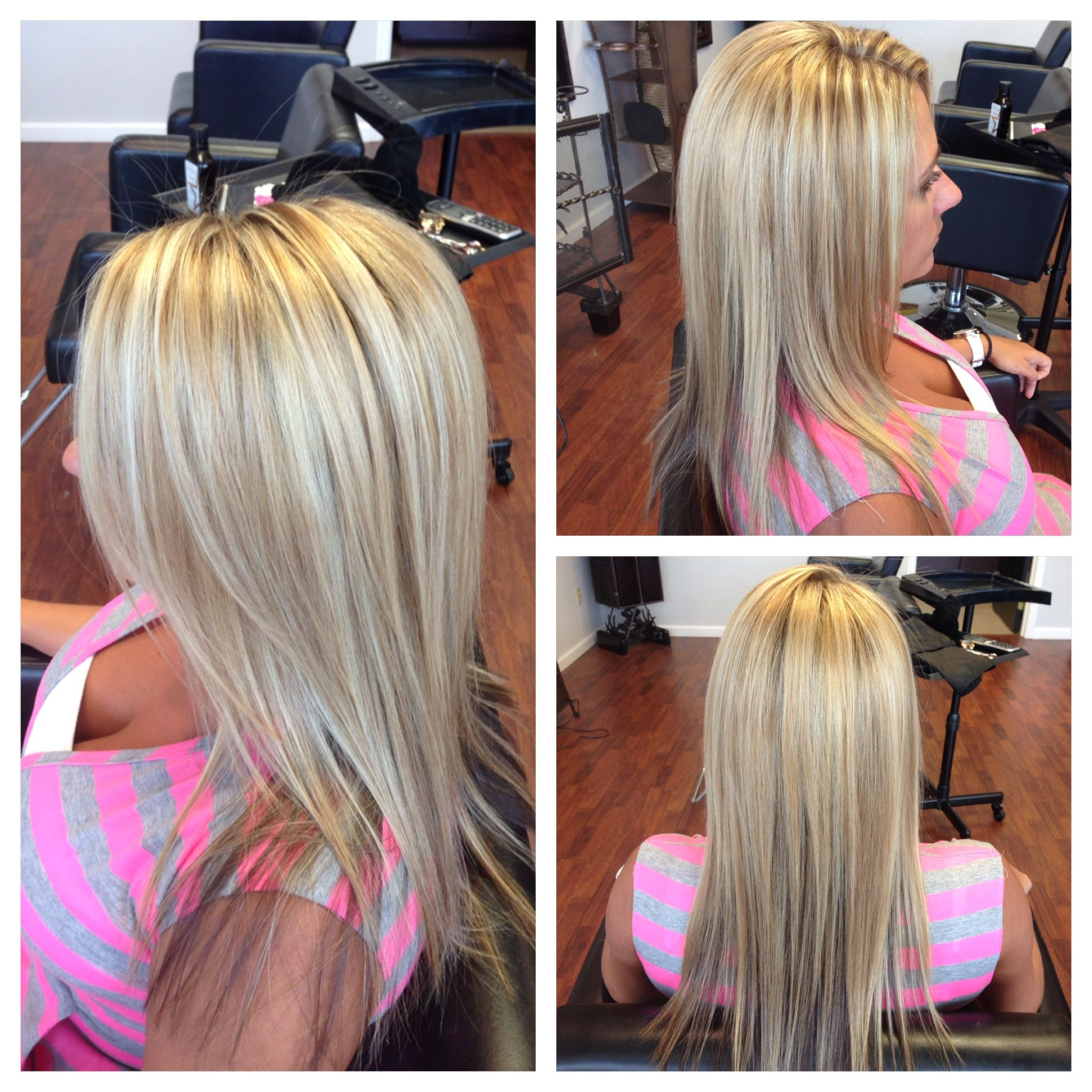 Blonde hair hilights overlay and trim