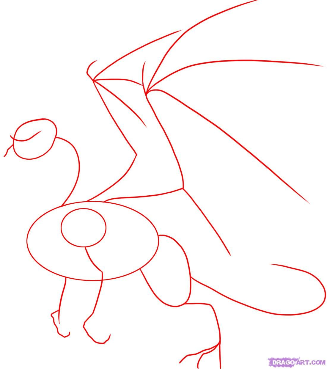 How To Draw A Dragon Step By Step Step 1