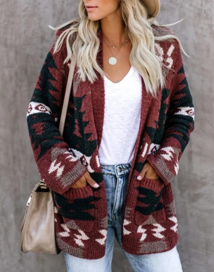 Women Knitted Cardigan Loose Sweater Outwear Long Sleeve Jacket Coat Tops S-XL