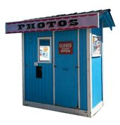Black & White Photo Booth - Classic Photo Booth Rental - Vintage