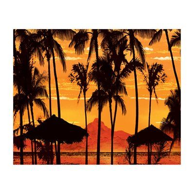 JP London MD4037 Beach Sunset Removable Full Wall
