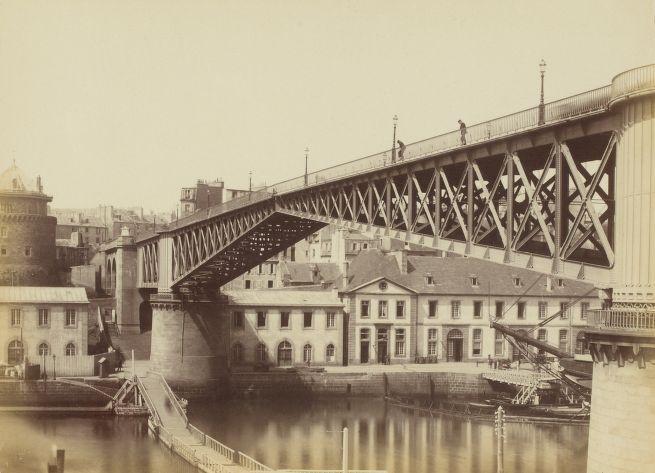 Hubert Vaffier - Brest, le pont tournant vue de biais (1891)