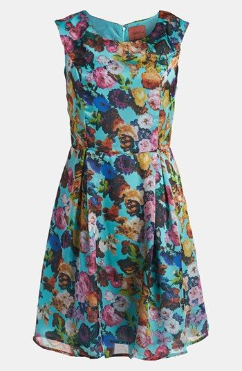 I.Madeline Floral Print Sleeveless Dress | Nordstrom