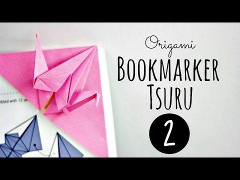 origami bookmarker (Tsuru 2)