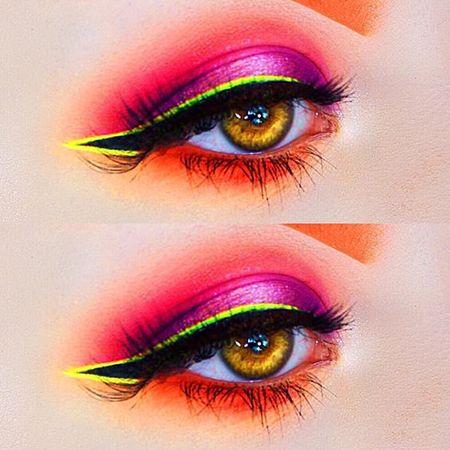 Dale color a tu mirada con maquillaje neon Neón, Ojos y Maquillaje