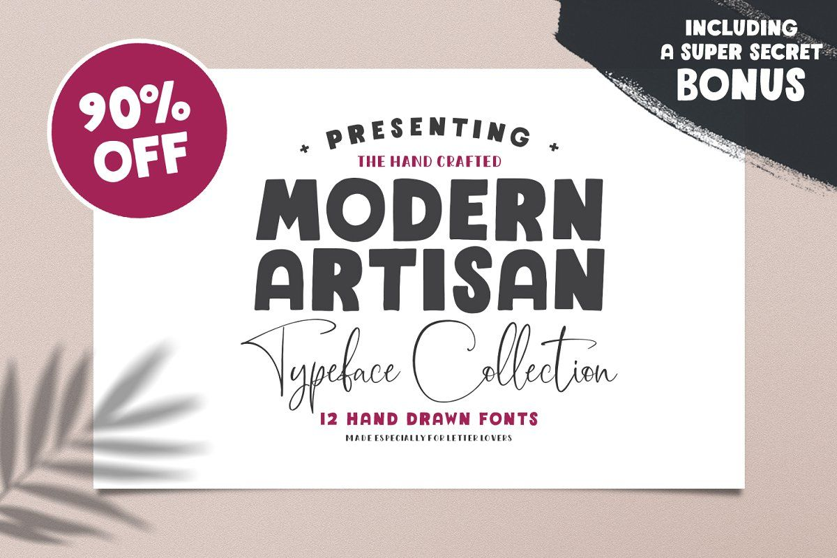 The Modern Artisan Font Collection Lettering, Whimsical