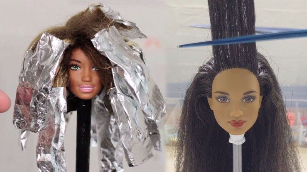 Barbie Hair Barbie Hairstyle Tutorial Barbie Hair Color Transformation | Barbie hairstyle ...