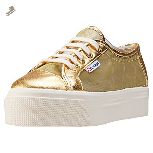 Womens Superga Gold 8 Trainers Uk Flatform 2790 Metallic LqMpUjSzVG
