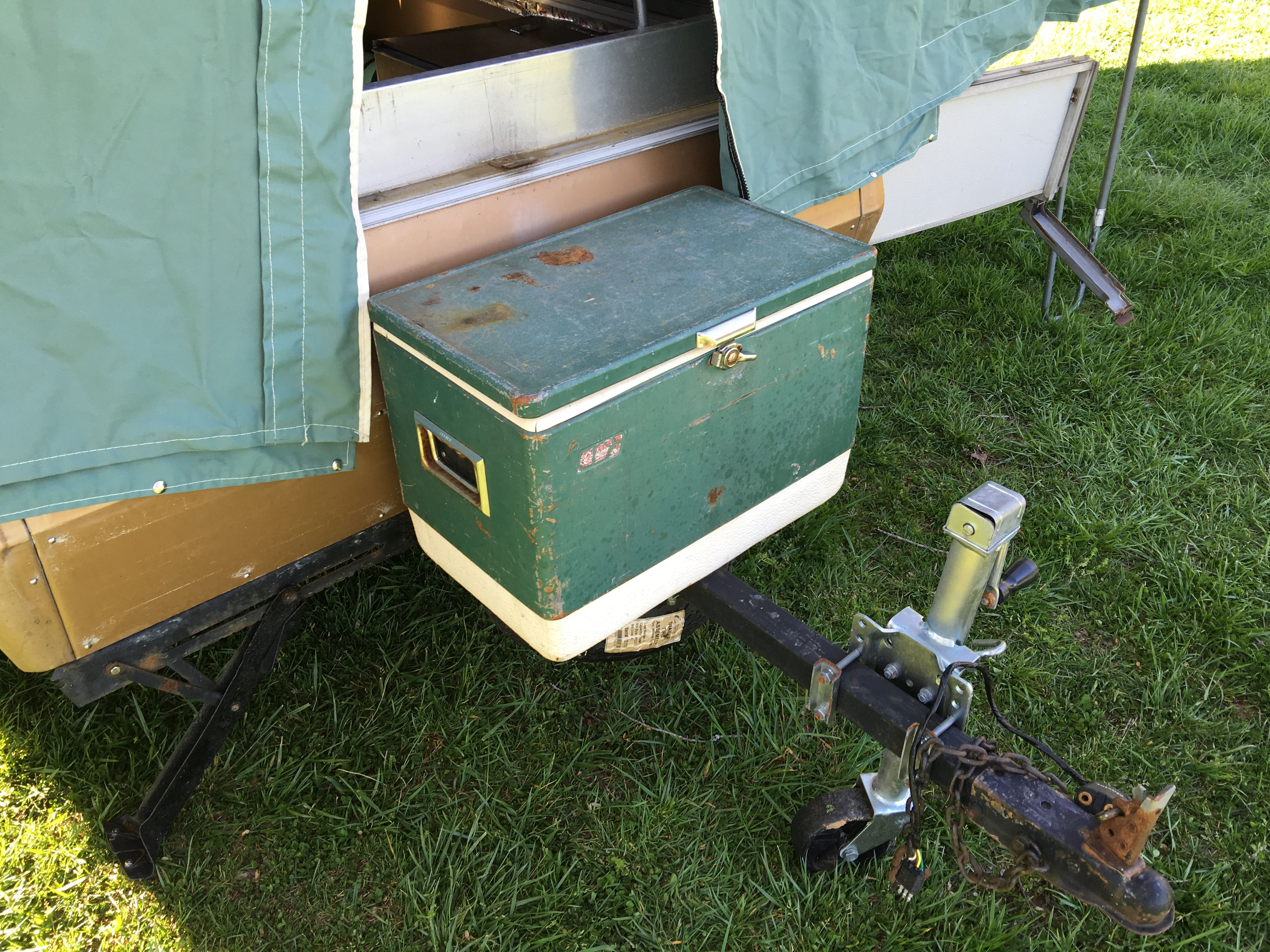 69 apache eagle old cooler covers ac open lid when in use camping stuffcoolerstentcamperrveagles